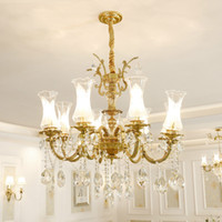Free Shipping 100% Copper Crystal Chandelier Lighting Luxuri...