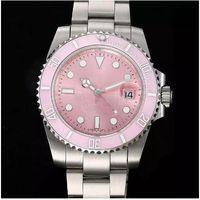 أعلى جودة 116610LN الوردي الطلب السيراميك الحافة الفولاذ المقاوم للصدأ الياقوت الزجاج مرآة التلقائي الميكانيكية وينين wonens مشاهدة الساعات