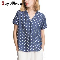 Women T SHIRT 50% Real silk 50%Cotton casual Top Short sleev...