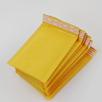 110 * 130mm Bubble Mailers Sobres acolchados Paquete de envases Bolsas de envío Kraft Bubble Mayor Bolsas