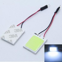 유니버설 18 COB LED 자동차 인테리어 램프 돔 라이트지도 라이트 맵 독서 자동차 램프 + T10 커넥터 자동차 스타일링