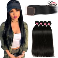 8A Unprocessed Brazilian Straight Hair With 4*4 Closure Stra...