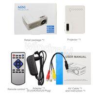 가장 저렴한 미니 프로젝터 RD814 LCD LED 휴대용 포켓 홈 시네이어 시네마 멀티미디어 지원 USB TF 카드 아이 어린이 비디오 미디어 플레이어 50pcs