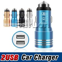 Universal Dual 2Port USB Car Charger Safety Hammer Charger A...