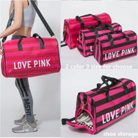 Love Pink Duffel Bags With Shoe Storage Bag Pink Women Trave...
