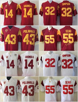 2018 USC Trojans 14 Sam Darnold College Football Jerseys 32 ...