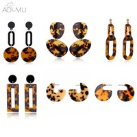 AOMU New Fashion Tortoise Color Leopard Print Acrylic Acetic...