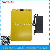 Freie Zoll Batterie 60V 24AH mit Kunststoffgehäuse 60 Volt Lithium-Elektro-Fahrrad Batterie Verwendung 3000mAh 18650 Zelle 30A BMS