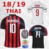 Camiseta de fútbol 2018 2019 camiseta de fútbol AC milan 18 19 HIGUAIN  BAKAYOKO BORINI KESSIE fff449c8212e8