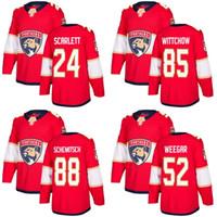 2018 새로운 브랜드 광고 남성 플로리다 Panthers 52 Mackenzie Weegar 24 Reece Scarlett 85 Eddie Wittow 88 Schemitsch Red Custom Hockey Jerseys