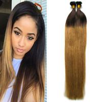 T1b / 27 мед блондинка омбре наращивание волос U Tip капсула человеческих волос расширение 100 г / пряди индийский Реми человеческих волос предварительно связаны U-tip