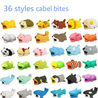 Cable Bites Toy 36 styles Cable Protector Animal Iphone Cable Bite Animal Poupée 2 * 2 * 4cm Animal Iphone port Bite DHL Livraison Gratuite mk595