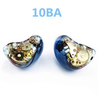 Newest Wooeasy 10BA in Ear Earphone Blue Gear Custom Made Hy...