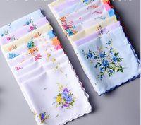 100% Lenço De Algodão Toalhas Cortador de Senhoras Floral Lenço Decoração Do Partido Guardanapos De Pano Artesanato Do Vintage Hanky Oman Presentes de Casamento SF35