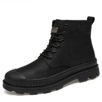Black Plus size 38- 46 Ankle Martin Boots Handmade Lace- Up Me...