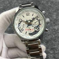 Mens Bracelet 기계식 손목 시계 탑 디자이너 Qualtiy 스테인레스 스틸 시계 자동식 큰 다이얼 스포츠 자동 바람 시계.