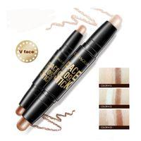 BIOAQUA Marca Face Makeup Makeup Pen Double Head 3D Bronzer Evidenziatore Stick Texture Contour Pencil Foundation