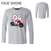 Tee shirt Homme Tees Andrea Coton Homme Tops Hauts Tee shirt design Andrea Dovizioso 04 T Shirt Motogp manches longues personnalisé Tee-shirts Hommes Polos