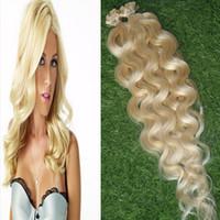 100g Blonde Brasilianische Körperwelle Haar Vor Gebundene Flache spitze Menschenhaarverlängerung 100g Fusion Keratin Kapseln Flache haarspitze