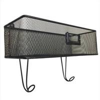 Spedizione gratuita all'ingrosso Wall Mount Mail Key Rack Nero elettrodomestici collezione di stoccaggio elettrodomestici forniture per ufficio a casa