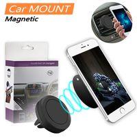Soporte de soporte de aire magnético fuerte soporte de soporte de soporte de soporte de aire de 360 grados para teléfono inteligente con caja de venta al por menor