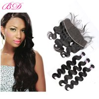 BD Body Wave Hair Bundles With Frontal Malaysian Non Remy Hu...