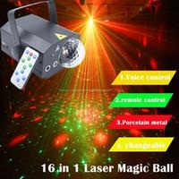Edison2011 16 Patterns + 1 Proiettore Light Laser Telecomando a sfera magica 10W DJ DJ Disco Acqua Wave Light Light Lighting Effect Lamp