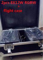 2pcs / lot Fall Flug Moving Head Led Spinne Licht 8x12W 4in1 RGBW LED-Partei-Licht DJ-Beleuchtung Lichtstrahl-bewegliches Hauptlicht
