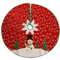 New Arrival Holiday Style Red Christmas Tree Skirt Felt Snow...
