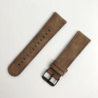ل Samsung Gear S3 Frontier / Classic Watch Leather Band 22mm FOLOME Watchband California Cowboy Style Replacement Strap