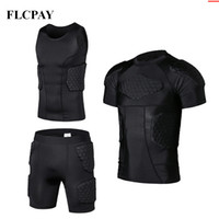 Nouveau Honeycomb Sport Sécurité Protection Gear Soccer Gardien Jersey + Shorts + Gilets En Plein Air Football Rembourré Protecteur Gym Vêtements