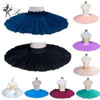 Negro duro tul medio tutú de ballet practicando ensayo clásico bailarina ballet tutú disfraz BT8923
