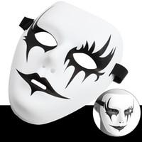 Máscara de Halloween Máscaras de Hip-hop pintadas a mano para fiesta de Halloween Masquerade Ghost Cosplay Mask