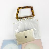 36723d82b52c9 Wholesale small transparent beach bags online - Women PVC Tote Bag  Transparent Jelly Bag fashion Handbag