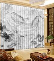 Perfekt 3D Blackout Vorhänge Marmor Surf Spitzen Fenster Vorhang Wohnzimmer  Schlafzimmer Küche Modern Home