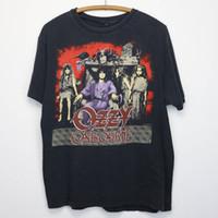 25a4d500 Camisetas de la novedad Ozzy Osbourne Vintage Short O-cuello de impresión  de la camisa