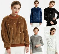 Pearl Beaded Autumn Winter Knitted Turtleneck Sweater Women ...