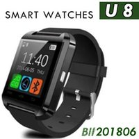 100 unids U8 Smart Watch con pantalla táctil Bluetooth Smartwatch Sleeping Monitor U8 Muñeca Relojes inteligentes para teléfonos con Android IOS