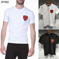 018 New Fashion heart Print t- Shirt men cotton short sleeves...