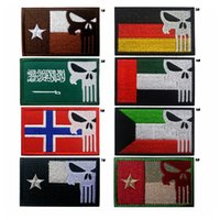 18VP-38 Toppe tattiche Germania Punisher di alta qualità con bastone magico Norvegia Patch ricamate badge Texas punisher morale