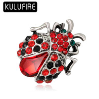 KULUFIRE Vintage Jewelry Insects Beetle Corsage Red Antique ...
