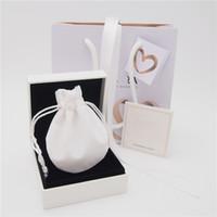 L'insieme dei monili di alta qualità Pacchetto scatola di carta cartone Bag Panno sacchetto per Pandora Orecchini Anello branello di fascino ciondola Moda