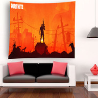180x180cm WXH Fortnite Battle Royale Jeu Modèle Polyester Tenture murale décoration Tapisserie Jet Tapis De Yoga Indian Beach Châle Bain