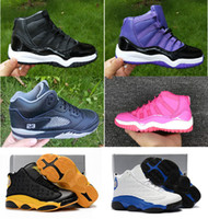 Children Sneakers kids Basketball Shoes Boys Girls 11s Blue ...
