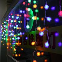 8 متر × 0.5 متر عيد الميلاد العام الجديد أفخم الكرة الصمام الستار أضواء سلسلة ضوء عيد الميلاد حزب تأثيث شرفة أدى عطلة الإضاءة 110 فولت -220 فولت