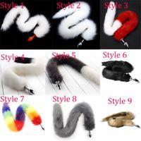 9 ألوان 75 سنتيمتر ذيل الثعلب الطويل ، الوثن الجنس اللعب ، ذيل المكونات الشرج ، مثير فو الذيل سيليكون / المعادن بعقب المكونات برودوتس الجنس ، اللعب المثيرة D18111502