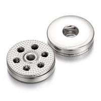 Noosa Snap Jewelry Findings Metal Plata 18mm Botones a presión Accesorios de bricolaje para 18mm Botón a presión Pulsera Brazaletes