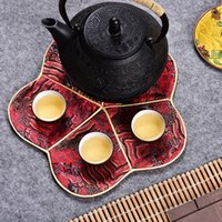 Luxury Cherry blossom Tea Coaster Dining Table Cup Mat Chine...