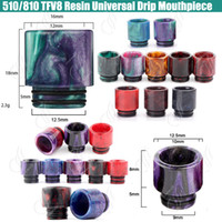 Top 510 810 TFV8 Epoxy Resin Drip tips Wide Bore Dripper tip...