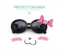 2018 новые детские солнцезащитные очки мода для девочек облака зеркало ноги очки летние мальчики классные велосипедные тени очки детский пляж солнцезащитный крем YA0086